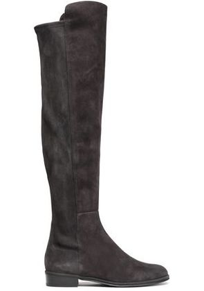 Stuart Weitzman Woman Allgood Suede Knee Boots Dark Gray Size 41.5