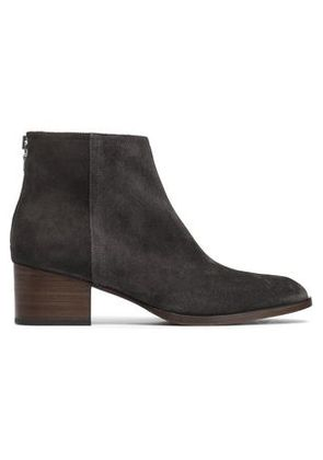 Rag & Bone Woman Suede Ankle Boots Dark Gray Size 36