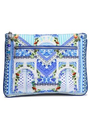 Camilla Woman Printed Canvas Clutch Off-white Size -