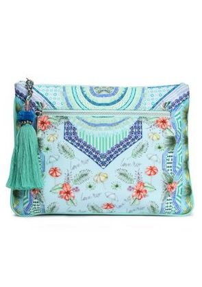 Camilla Woman Printed Canvas Clutch Sky Blue Size -