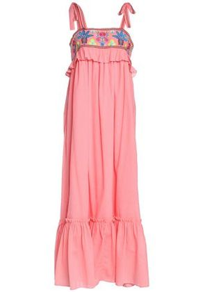 Antik Batik Woman Embroidered Cotton-gauze Maxi Dress Pink Size 42