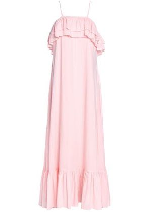 Antik Batik Woman Ruffled Mousseline Maxi Dress Baby Pink Size 36