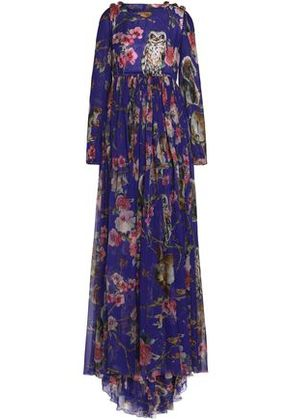 Dolce & Gabbana Woman Pleated Silk-crepe Gown Violet Size 38