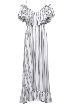 Tart Collections Woman Cold-shoulder Ruffled Woven Maxi Dress White Size XS