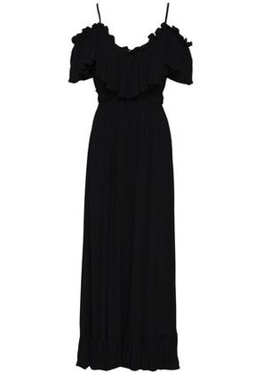 Tart Collections Woman Cold-shoulder Ruffled Woven Maxi Dress Black Size XS