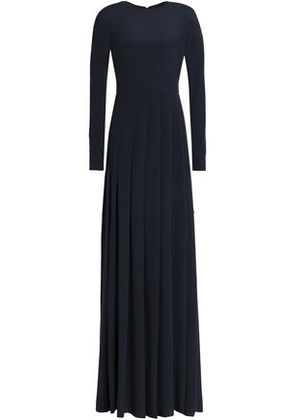 Valentino Woman Crepe Maxi Dress Midnight Blue Size 40