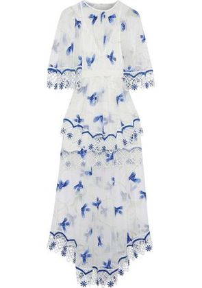 Alice Mccall Woman Marigold Macramé-trimmed Embroidered Tulle Midi Dress White Size 4