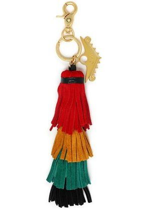 Camilla Woman Tasseled Color-block Keychain Red Size -
