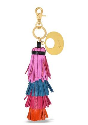 Camilla Woman Tasseled Color-block Keychain Pink Size -