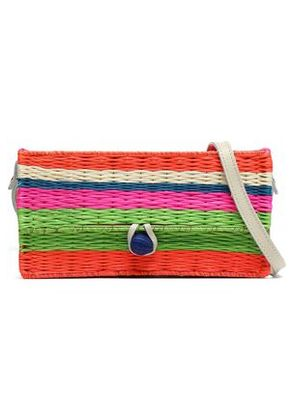 Sophie Anderson Woman Striped Straw Shoulder Bag Multicolor Size -