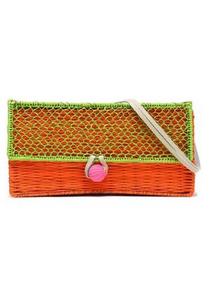 Sophie Anderson Woman Woven Raffia Shoulder Bag Lime Green Size -