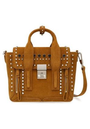 3.1 Phillip Lim Woman Pashli Studded Suede Tote Camel Size -