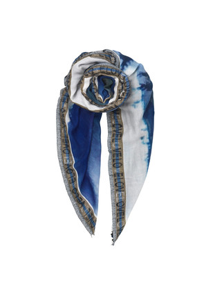Kees Wood Wool Scarf - Blue Nights