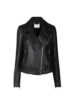 Legend Leather Biker Jacket - Black