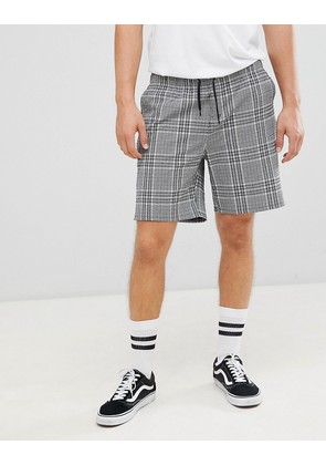 Weekday pillar check shorts - Black