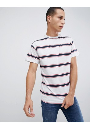 New Look oversized stripe t-shirt in grey - Mid grey