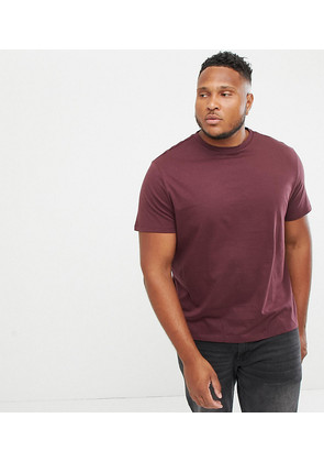 New Look Plus t-shirt in burgundy - Red