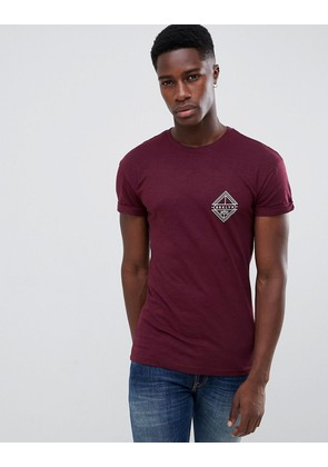New Look t-shirt with NYC print in burgundy - Dark burgundy