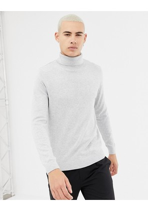 New Look roll neck jumper in light grey - Light grey