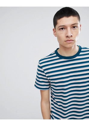 Weekday Alan Stripe T-Shirt - Petrol multi colour