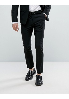 New Look skinny fit suit trousers in black - Black