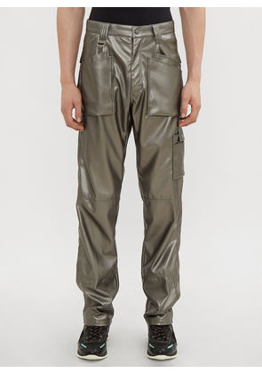 GmbH Viktor Metallic Pants in Platinum size XS