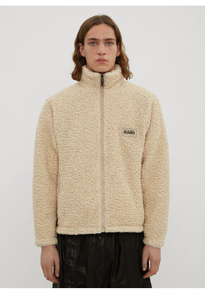 Napa By Martine Rose X Napapijri T-Emin Zip-Up Fleece Sweater in Beige size JPN - 1