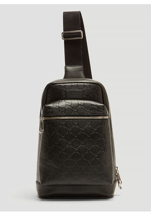 Gucci GG Leather Cross Body Bag in Black size One Size