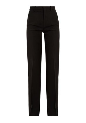 Gucci - High Rise Flared Stretch Crepe Cady Trousers - Womens - Black