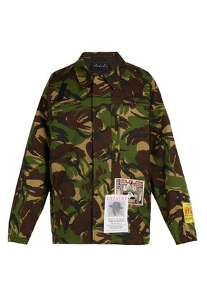 Martine Rose - Camouflage Cotton Blend Jacket - Mens - Camouflage