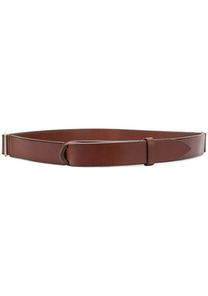 Orciani Bull no buckle belt - Brown