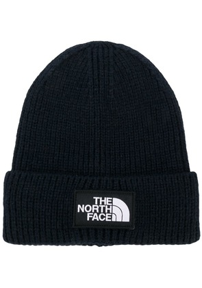 The North Face logo patch beanie hat - Blue