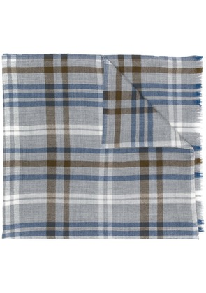 Loro Piana checked scarf - Neutrals