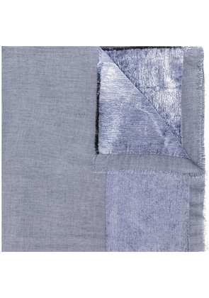 Faliero Sarti velour panel scarf - Blue