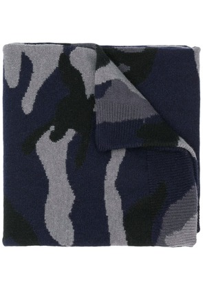 Valentino camouflage scarf - Blue