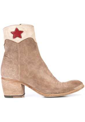Fauzian Jeunesse red star ankle boots - Brown