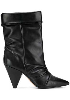 The Seller cone heel boots - Black
