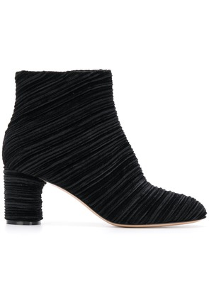 Casadei ribbed ankle boots - Black