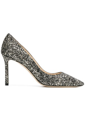 Jimmy Choo Romy 85 glitter pumps - Black