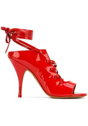 Givenchy ankle wrap sandals - Red