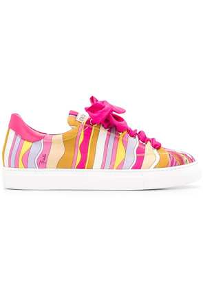 Emilio Pucci lace-up printed sneakers - Pink