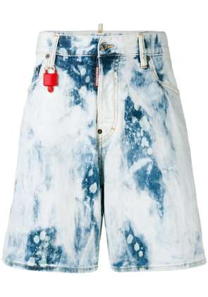 Dsquared2 bleached denim shorts - Blue