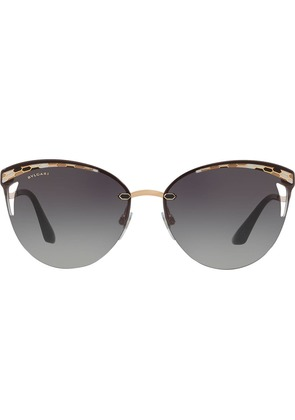Bulgari cat eye sunglasses - Metallic