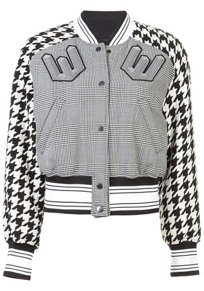 Off-White cropped bomber jacket - Black