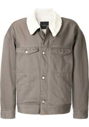 Undercover shearling work jacket - Grey