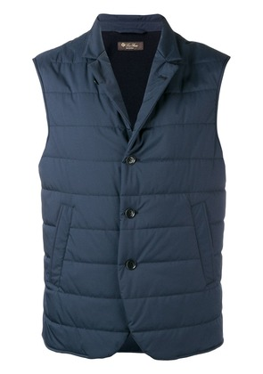 Loro Piana quilted gilet - Blue