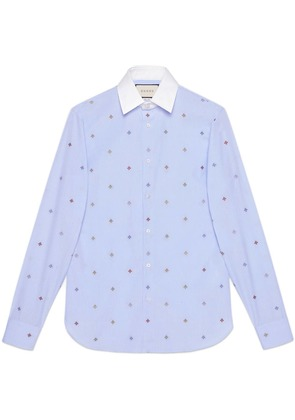 Gucci Bee fil coupé shirt - Blue