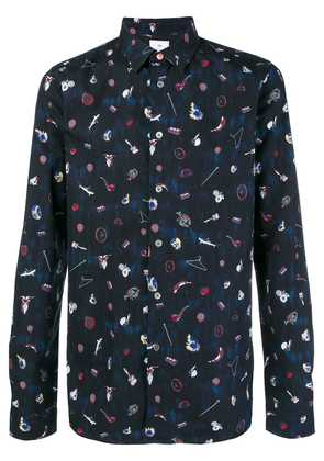 Ps By Paul Smith printed shirt - Blue