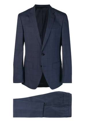 Boss Hugo Boss checked two piece suit - Blue