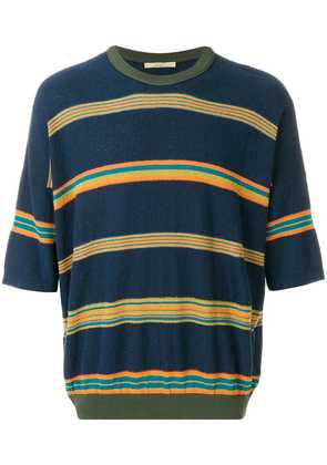 Nuur striped oversized T-shirt - Blue